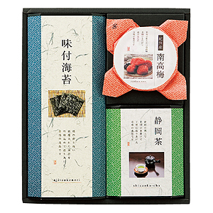 購入する AP12AU-7333-075 静岡茶・味付海苔・南高梅詰合せ WZ-25