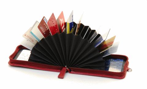 購入する カードホルダー アコーディオン式