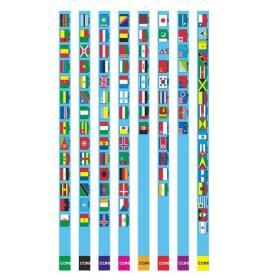購入する 世界の国旗えんぴつ(2B)