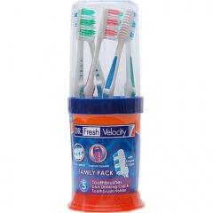 Dr.フレッシュ歯ブラシ5本ファミリーパック