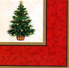 クリスマス・ナプキン クリスマスホームパーティーに!クリスマス★紙食器 クリスマスツリー ランチョンナプキン(アメリカ製)33cm角16枚入 【クリスマスナプキン】【クリスマスホームパーティー】