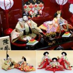 雛人形 収納飾り 三段飾り コンパクト 五人飾り 収納台付 53-353 ひな人形 コンパクト飾り