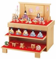 【雛人形 一秀 ひな人形】一秀作 大和雛 10人飾り 桐収納 K-0【雛 収納飾り】