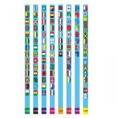 世界の国旗えんぴつ(2B)