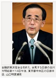 日銀、追加緩和見送り 新総裁の一手に注目